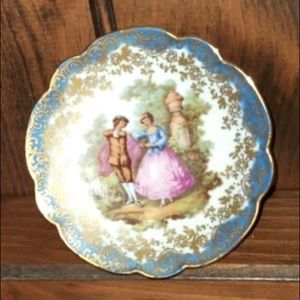 Limoges Courting Couple Plate